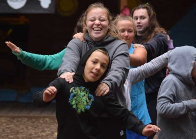 Camper and staff games